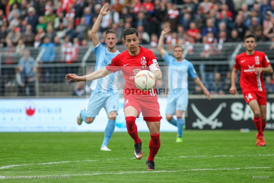 Amir Shapourzadeh, 09.04.2016, flyeralarm Arena, Würzburg, Fussball, 3. Liga, SV Stuttgarter Kickers, FC Würzburger Kickers - Bild-ID: 2160201