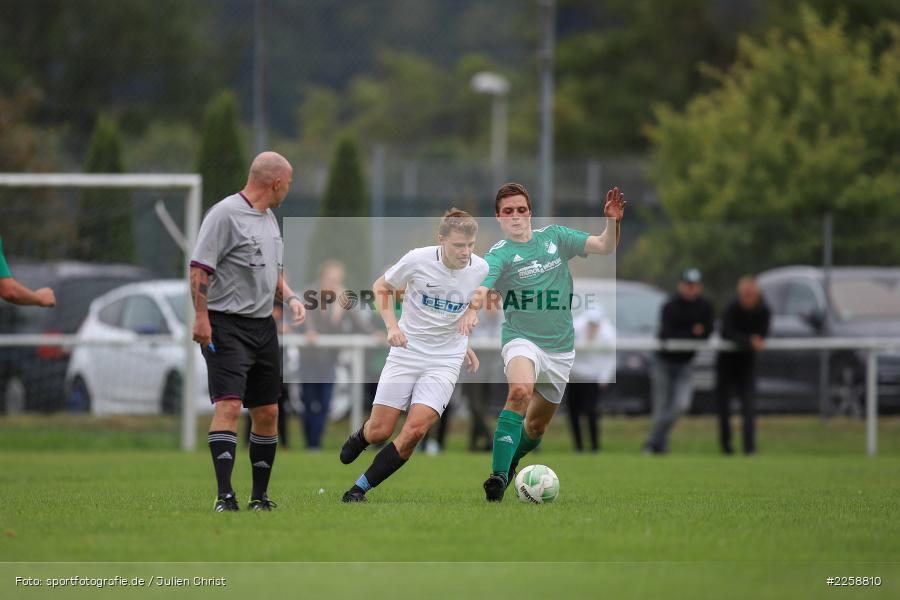 Christoph Fella, Kilian Wehner, 08.09.2019, Kreisklasse Würzburg, FC Karsbach, FC Gössenheim - Bild-ID: 2258810