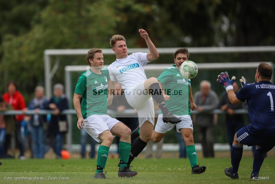 Fabian Brand, David Vogt, Martin Blatterspiel, 08.09.2019, Kreisklasse Würzburg, FC Karsbach, FC Gössenheim - Bild-ID: 2258813