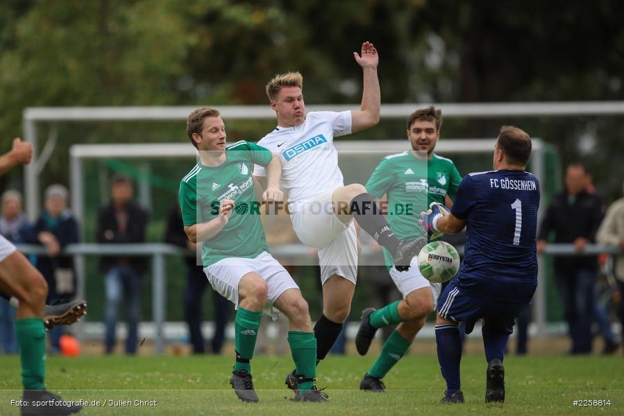 Fabian Brand, David Vogt, Martin Blatterspiel, 08.09.2019, Kreisklasse Würzburg, FC Karsbach, FC Gössenheim - Bild-ID: 2258814
