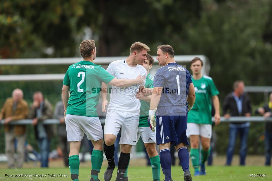 Fabian Brand, David Vogt, Martin Blatterspiel, 08.09.2019, Kreisklasse Würzburg, FC Karsbach, FC Gössenheim - Bild-ID: 2258816