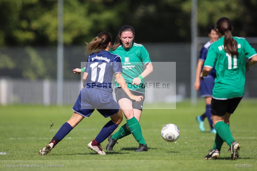 Lisa Steinbach, Anna-Lena Drescher, Kreisliga Frauen, 15.09.2019, FC Hopferstadt 2, FV Karlstadt - Bild-ID: 2259036