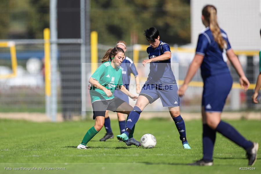 Ellen Barthelme, Franziska Hartmann, Kreisliga Frauen, 15.09.2019, FC Hopferstadt 2, FV Karlstadt - Bild-ID: 2259039