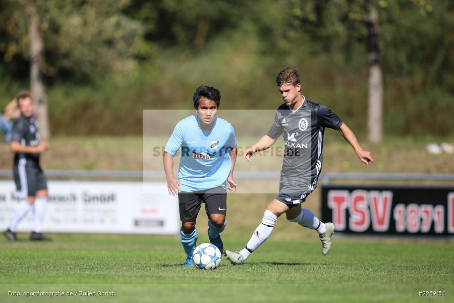 Thawatchai Pimsai, Kevin Heim, Bezirksliga West, 15.09.2019, TSV Keilberg, TSV Retzbach - Bild-ID: 2259151