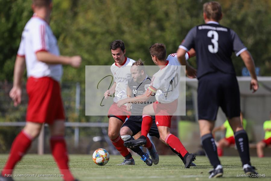 Fabian Imhof, Niklas Joa, Steffen Lehofer, Kreisklasse Würzburg, 22.09.2019, FV Langenprozelten/Neuendorf, SG Eußenheim/Gambach - Bild-ID: 2261145
