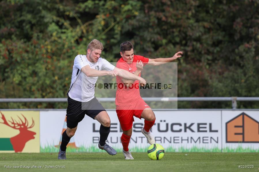 Felix Gold, Artur Jurkin, 22.09.2019, Kreisliga Würzburg, FV Gemünden/Seifriedsburg, TSV Karlburg II - Bild-ID: 2261223