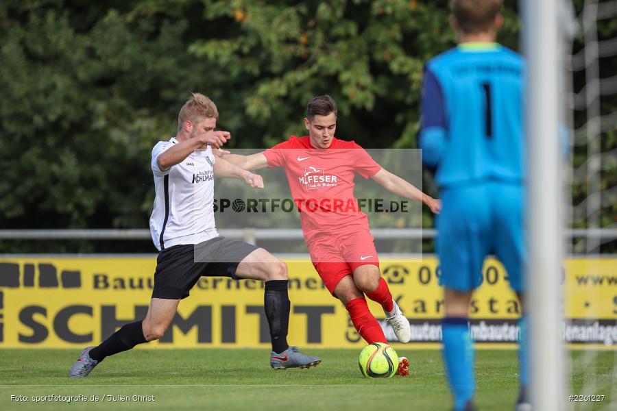 Felix Gold, Artur Jurkin, 22.09.2019, Kreisliga Würzburg, FV Gemünden/Seifriedsburg, TSV Karlburg II - Bild-ID: 2261227
