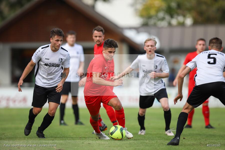Michael Wolff, Peter Kübert, Artur Jurkin, 22.09.2019, Kreisliga Würzburg, FV Gemünden/Seifriedsburg, TSV Karlburg II - Bild-ID: 2261260