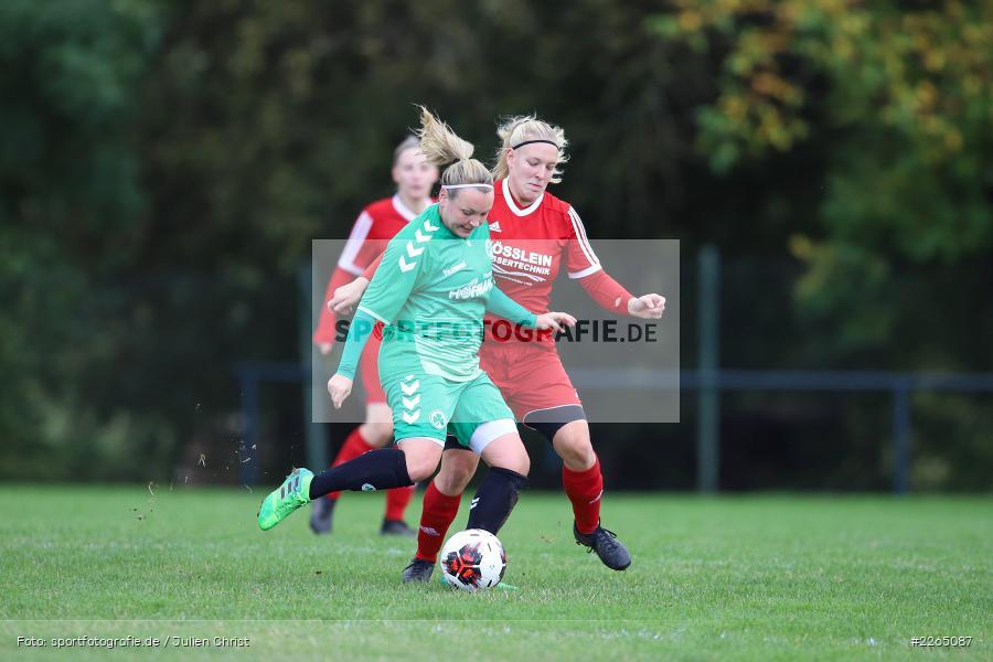 Lisa Blum, Stefanie Schubert, 03.10.2019, Landesliga Nord Frauen, SpVgg Greuther Fürth II, FC Karsbach - Bild-ID: 2265087