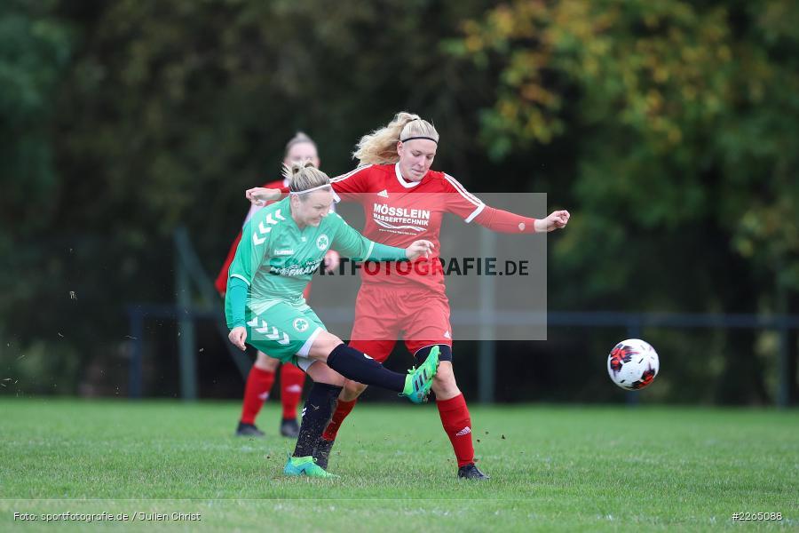 Lisa Blum, Stefanie Schubert, 03.10.2019, Landesliga Nord Frauen, SpVgg Greuther Fürth II, FC Karsbach - Bild-ID: 2265088