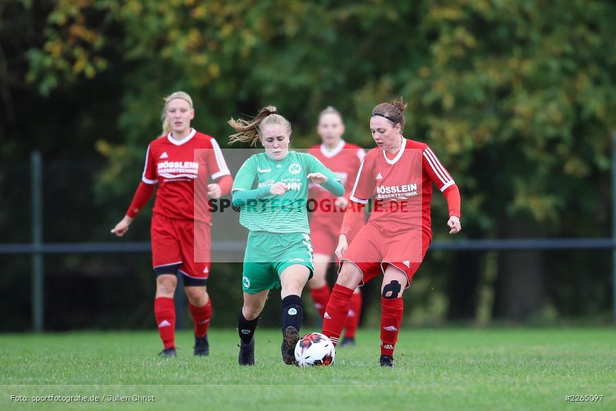 Amanda Sulewski, Angelina Müller, 03.10.2019, Landesliga Nord Frauen, SpVgg Greuther Fürth II, FC Karsbach - Bild-ID: 2265097
