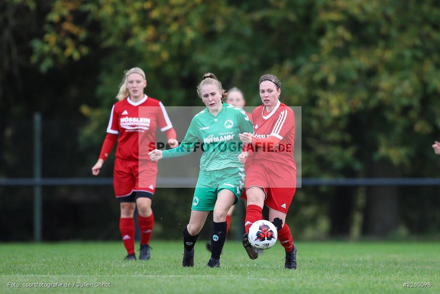Amanda Sulewski, Angelina Müller, 03.10.2019, Landesliga Nord Frauen, SpVgg Greuther Fürth II, FC Karsbach - Bild-ID: 2265098