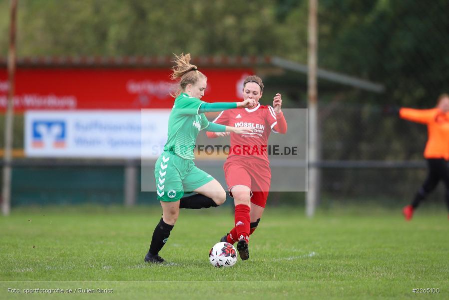 Amanda Sulewski, Angelina Müller, 03.10.2019, Landesliga Nord Frauen, SpVgg Greuther Fürth II, FC Karsbach - Bild-ID: 2265100