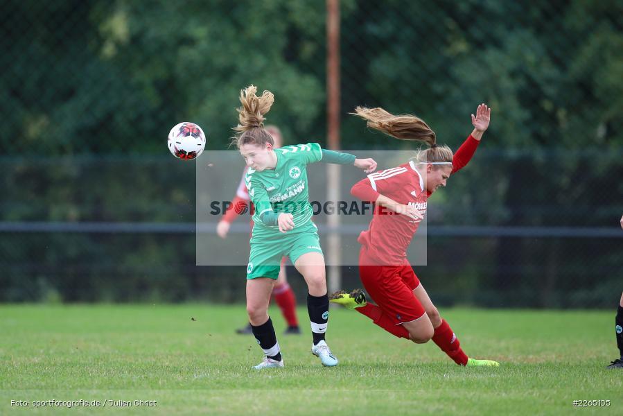 Alina Fuchs, Tamira Stegmann, 03.10.2019, Landesliga Nord Frauen, SpVgg Greuther Fürth II, FC Karsbach - Bild-ID: 2265105