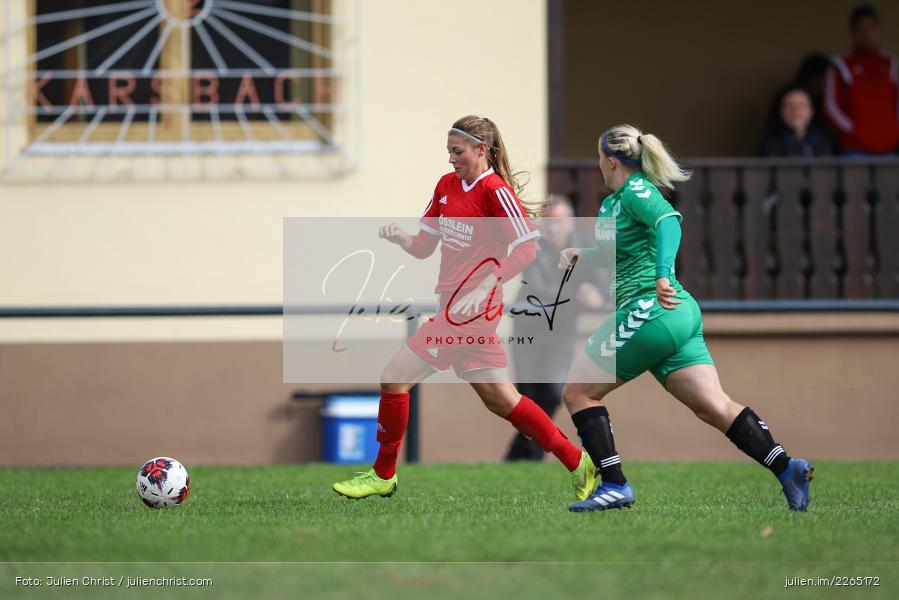 Carolin Adlung, Tamira Stegmann, 03.10.2019, Landesliga Nord Frauen, SpVgg Greuther Fürth II, FC Karsbach - Bild-ID: 2265172