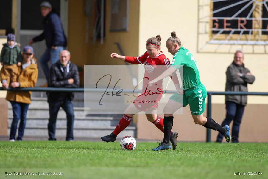 Laura Rosenberger, Francesca Hau, 03.10.2019, Landesliga Nord Frauen, SpVgg Greuther Fürth II, FC Karsbach - Bild-ID: 2265179