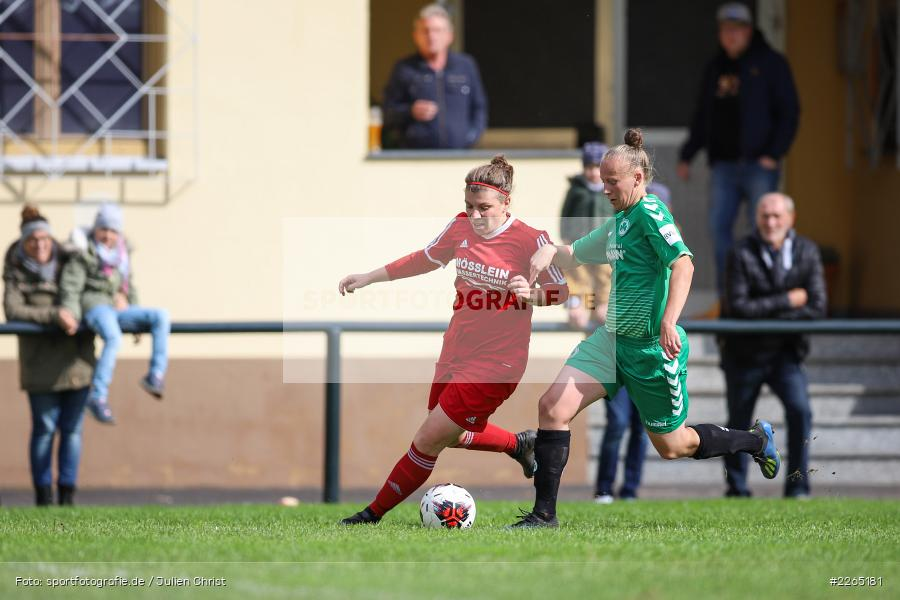 Laura Rosenberger, Francesca Hau, 03.10.2019, Landesliga Nord Frauen, SpVgg Greuther Fürth II, FC Karsbach - Bild-ID: 2265181