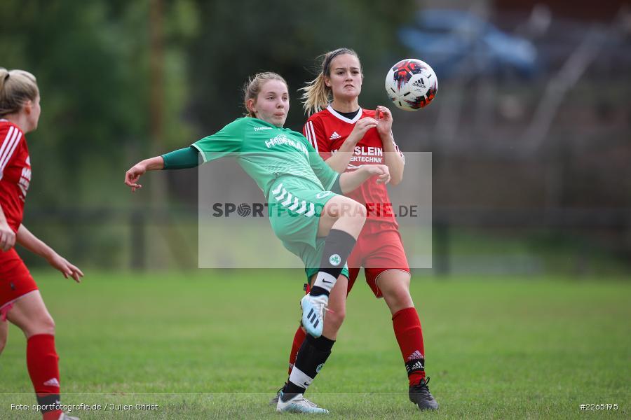 Alina Fuchs, Sophia Burkard, 03.10.2019, Landesliga Nord Frauen, SpVgg Greuther Fürth II, FC Karsbach - Bild-ID: 2265195