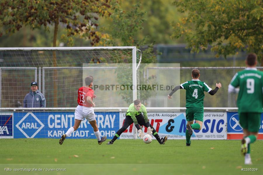 Noah Bischoff, 03.10.2019, U19 Bezirksoberliga, (SG) TuS Frammersbach, (SG) FV Karlstadt - Bild-ID: 2265209