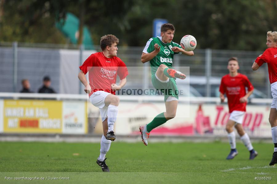 Jan Maiberger, Matteo Seitz, 03.10.2019, U19 Bezirksoberliga, (SG) TuS Frammersbach, (SG) FV Karlstadt - Bild-ID: 2265210