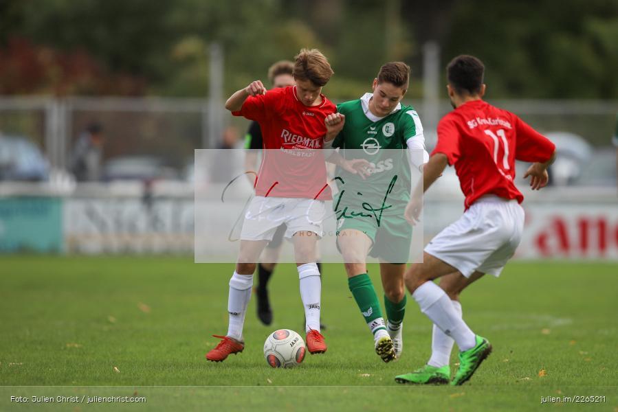 Philipp Dünkel, Max Krug, 03.10.2019, U19 Bezirksoberliga, (SG) TuS Frammersbach, (SG) FV Karlstadt - Bild-ID: 2265211