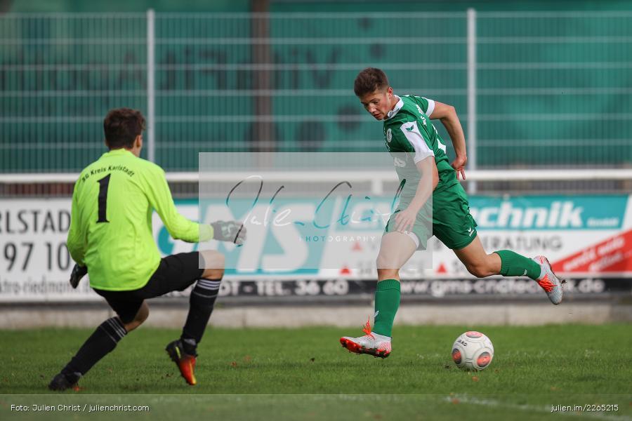 Fabian Schmitt, Jan Maiberger, 03.10.2019, U19 Bezirksoberliga, (SG) TuS Frammersbach, (SG) FV Karlstadt - Bild-ID: 2265215