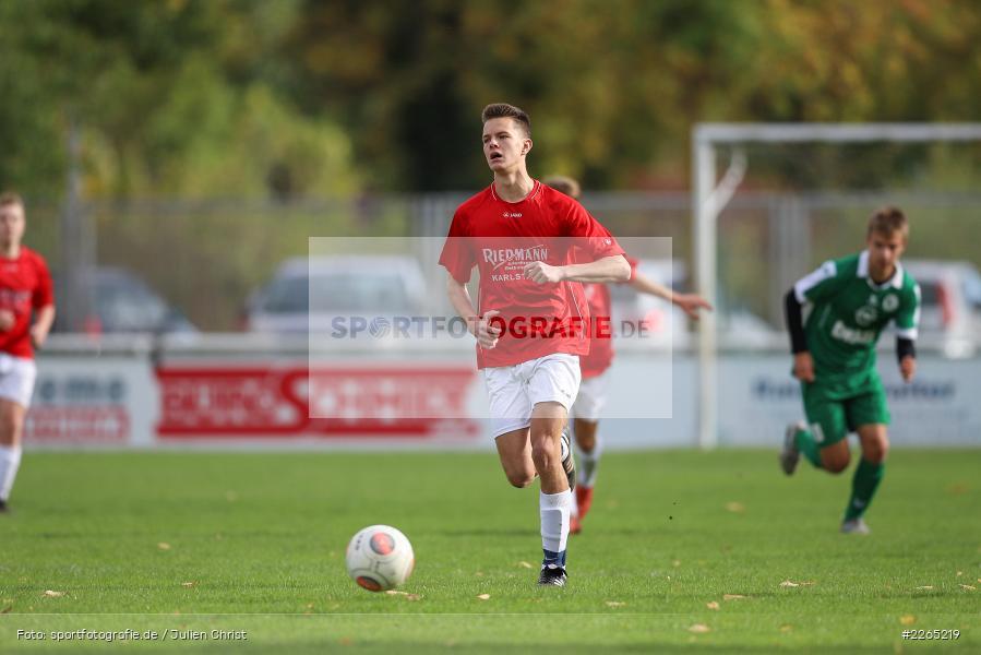 Luca Röder, 03.10.2019, U19 Bezirksoberliga, (SG) TuS Frammersbach, (SG) FV Karlstadt - Bild-ID: 2265219