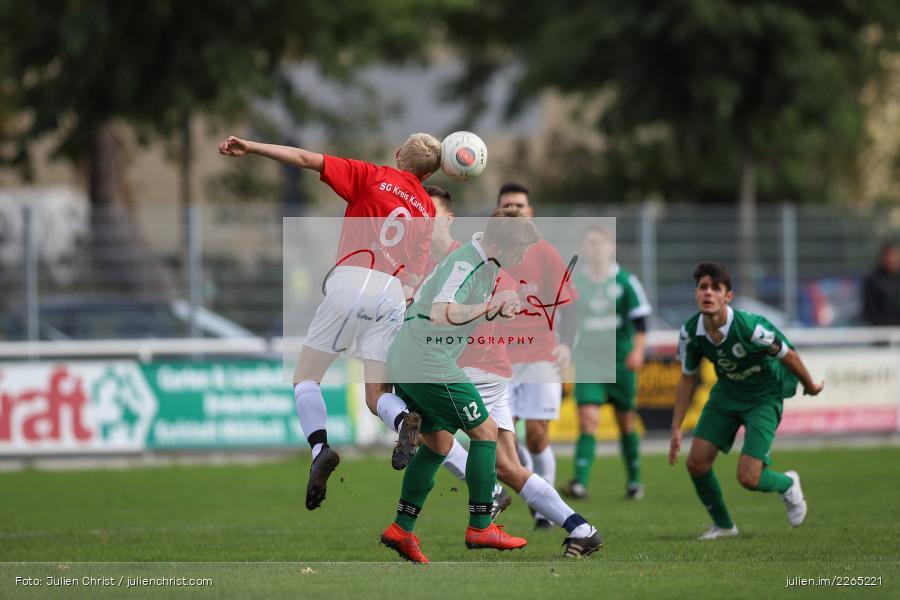 Toni Vogel, Mika Beckert, 03.10.2019, U19 Bezirksoberliga, (SG) TuS Frammersbach, (SG) FV Karlstadt - Bild-ID: 2265221