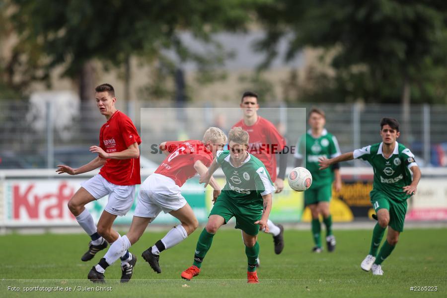 Mika Beckert, Toni Vogel, 03.10.2019, U19 Bezirksoberliga, (SG) TuS Frammersbach, (SG) FV Karlstadt - Bild-ID: 2265223