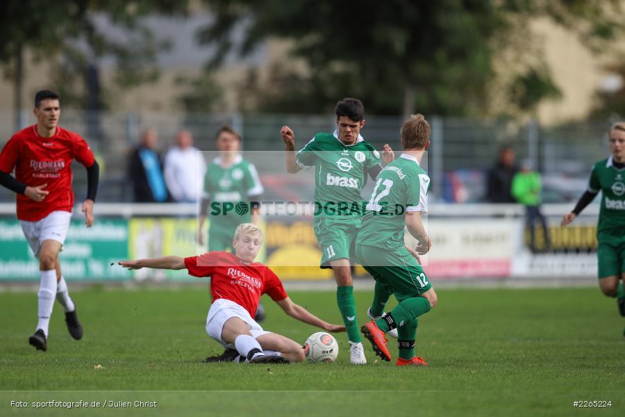 Kilian Blenk, Mika Beckert, 03.10.2019, U19 Bezirksoberliga, (SG) TuS Frammersbach, (SG) FV Karlstadt - Bild-ID: 2265224