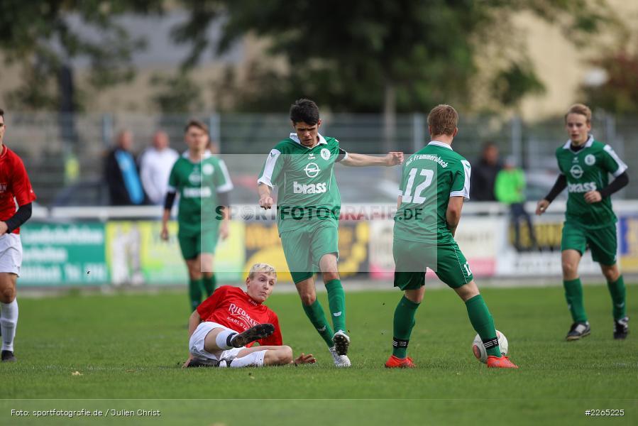 Mika Beckert, Kilian Blenk, 03.10.2019, U19 Bezirksoberliga, (SG) TuS Frammersbach, (SG) FV Karlstadt - Bild-ID: 2265225