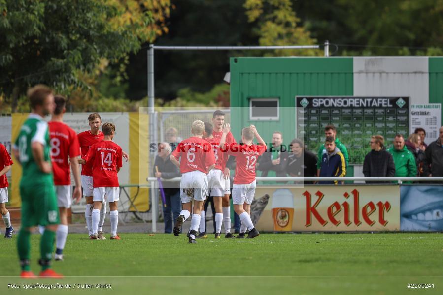Jakob Fischer, Max Krug, Mika Beckert, Matthias Spall, Max Lambrecht, 03.10.2019, U19 Bezirksoberliga, (SG) TuS Frammersbach, (SG) FV Karlstadt - Bild-ID: 2265241
