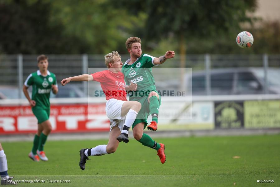 Toni Vogel, Mika Beckert, 03.10.2019, U19 Bezirksoberliga, (SG) TuS Frammersbach, (SG) FV Karlstadt - Bild-ID: 2265255