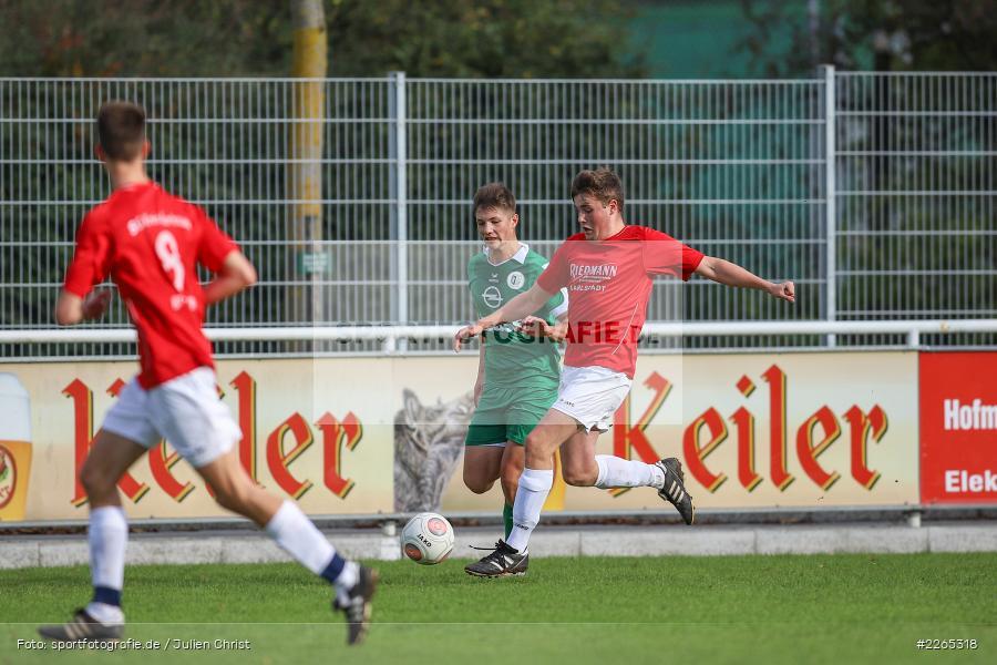 Jan Maiberger, Matthias Spall, 03.10.2019, U19 Bezirksoberliga, (SG) TuS Frammersbach, (SG) FV Karlstadt - Bild-ID: 2265318