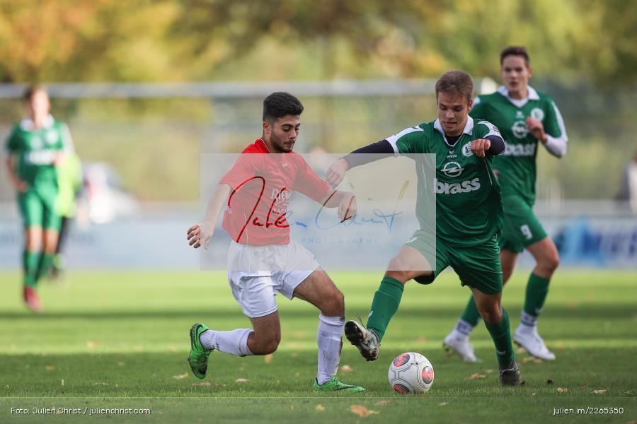 Philipp Küppers, Elias Faris, 03.10.2019, U19 Bezirksoberliga, (SG) TuS Frammersbach, (SG) FV Karlstadt - Bild-ID: 2265350