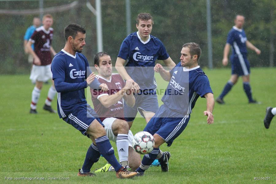 Timo Maier, Dirk Schmidt, Christoph Landeck, Sebastian Kippes, Kreisliga TBB, 06.10.2019, TSV Gerchsheim, Kickers DHK Wertheim - Bild-ID: 2266251