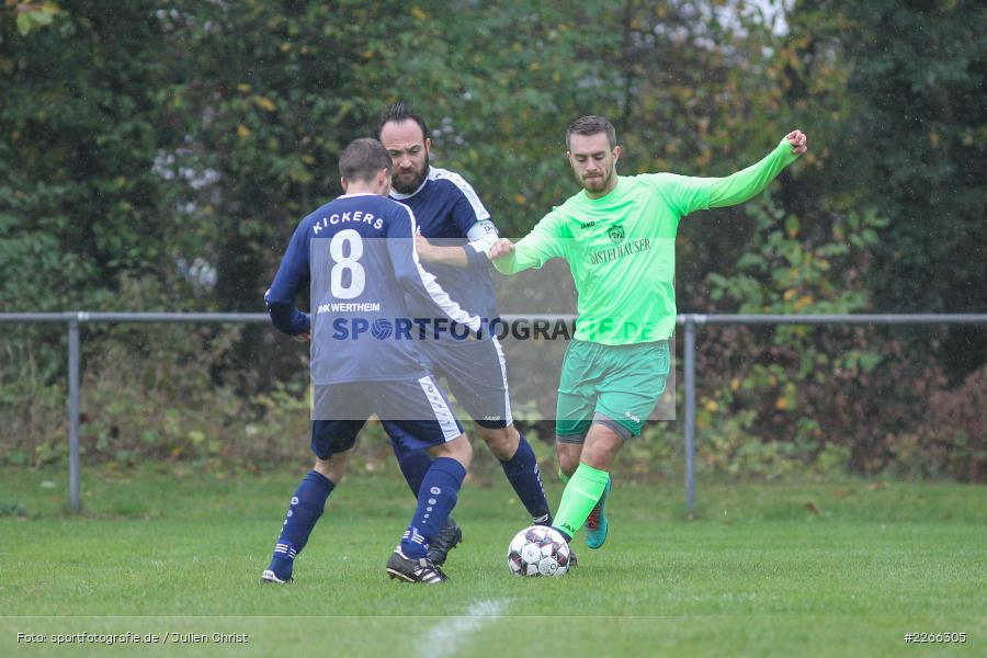 Marc Strauß, Erich Meisner, Nils Lotter, 06.10.2019, Kreisliga B TBB, SpG TSV Dittwar/FC Heckfeld, Kickers DHK Wertheim 2 - Bild-ID: 2266305
