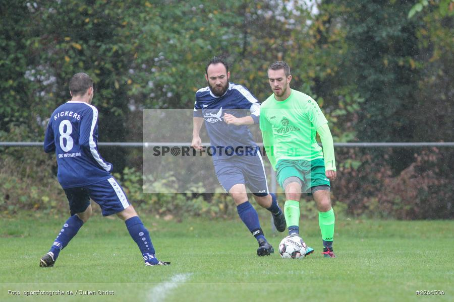 Marc Strauß, Erich Meisner, Nils Lotter, 06.10.2019, Kreisliga B TBB, SpG TSV Dittwar/FC Heckfeld, Kickers DHK Wertheim 2 - Bild-ID: 2266306