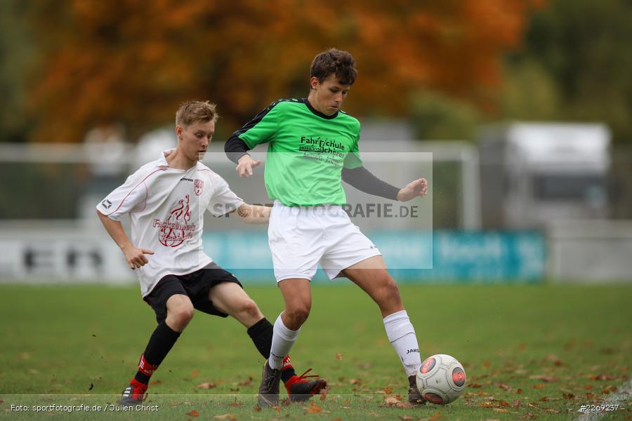 Christoph Nürnberger, Noah Edelhäuser, 19.10.2019, U19 Bezirksoberliga Unterfranken, (SG) TSV/DJK Wiesentheid, (SG) FV Karlstadt - Bild-ID: 2269237