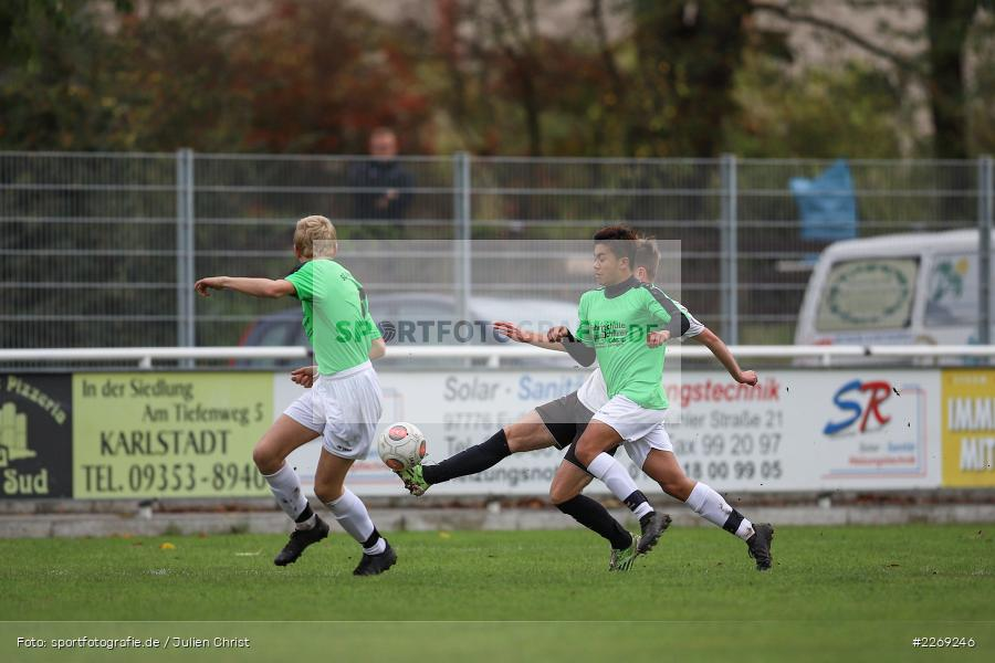 Lukas Möser, Jan-Mauries Caballero, 19.10.2019, U19 Bezirksoberliga Unterfranken, (SG) TSV/DJK Wiesentheid, (SG) FV Karlstadt - Bild-ID: 2269246