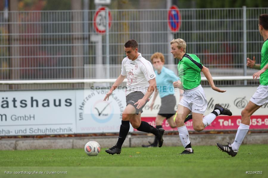Alexander Knaub, Mika Beckert, 19.10.2019, U19 Bezirksoberliga Unterfranken, (SG) TSV/DJK Wiesentheid, (SG) FV Karlstadt - Bild-ID: 2269252
