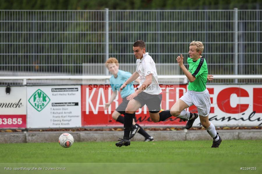 Mika Beckert, Alexander Knaub, 19.10.2019, U19 Bezirksoberliga Unterfranken, (SG) TSV/DJK Wiesentheid, (SG) FV Karlstadt - Bild-ID: 2269253