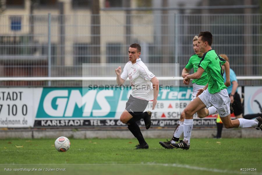 Alexander Knaub, Mika Beckert, 19.10.2019, U19 Bezirksoberliga Unterfranken, (SG) TSV/DJK Wiesentheid, (SG) FV Karlstadt - Bild-ID: 2269254