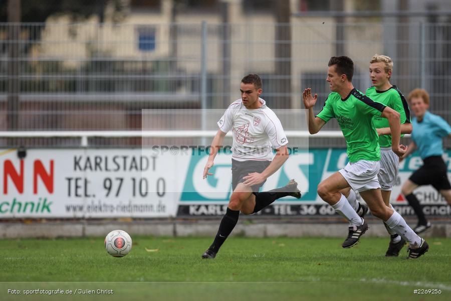 Mika Beckert, Alexander Knaub, Luca Röder, 19.10.2019, U19 Bezirksoberliga Unterfranken, (SG) TSV/DJK Wiesentheid, (SG) FV Karlstadt - Bild-ID: 2269256