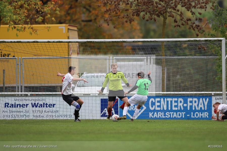 Moritz Seitzer, Elias Klein, Noah Edelhäuser, 19.10.2019, U19 Bezirksoberliga Unterfranken, (SG) TSV/DJK Wiesentheid, (SG) FV Karlstadt - Bild-ID: 2269263