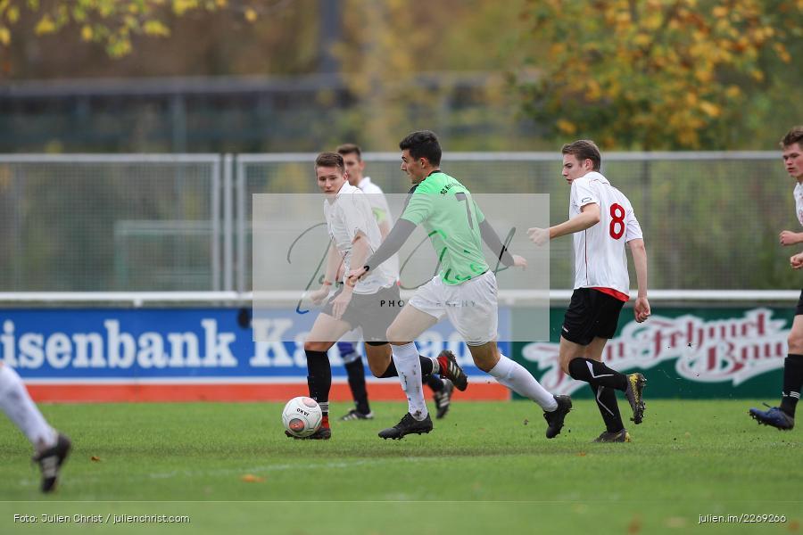 Max Lambrecht, Hannes Neuwirth, 19.10.2019, U19 Bezirksoberliga Unterfranken, (SG) TSV/DJK Wiesentheid, (SG) FV Karlstadt - Bild-ID: 2269266