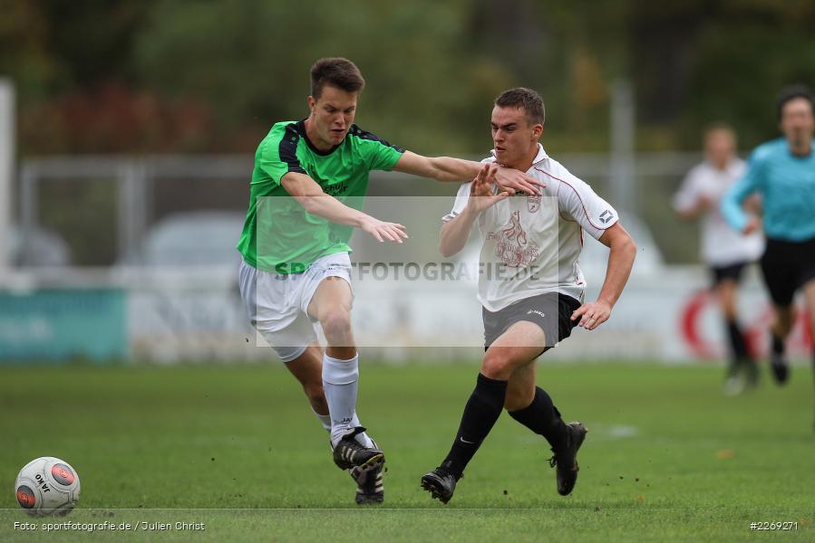 Luca Röder, Alexander Knaub, 19.10.2019, U19 Bezirksoberliga Unterfranken, (SG) TSV/DJK Wiesentheid, (SG) FV Karlstadt - Bild-ID: 2269271