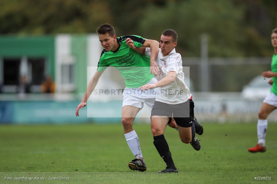Luca Röder, Alexander Knaub, 19.10.2019, U19 Bezirksoberliga Unterfranken, (SG) TSV/DJK Wiesentheid, (SG) FV Karlstadt - Bild-ID: 2269272