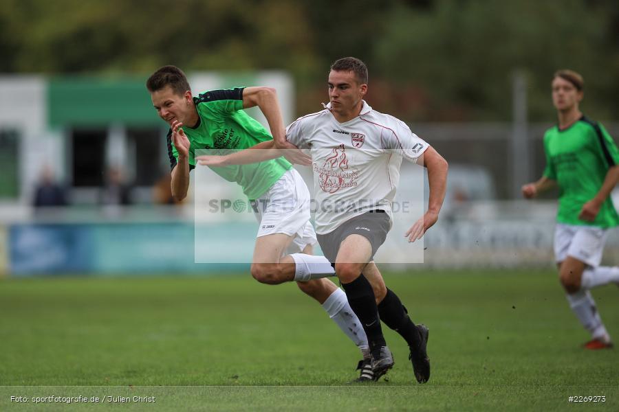 Luca Röder, Alexander Knaub, 19.10.2019, U19 Bezirksoberliga Unterfranken, (SG) TSV/DJK Wiesentheid, (SG) FV Karlstadt - Bild-ID: 2269273