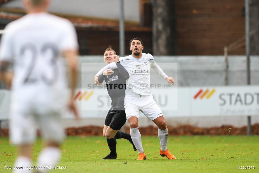 Marco Schiebel, Cristian Dan, 02.11.2019, Bayernliga Nord, TSV Karlburg, Würzburger FV - Bild-ID: 2269378